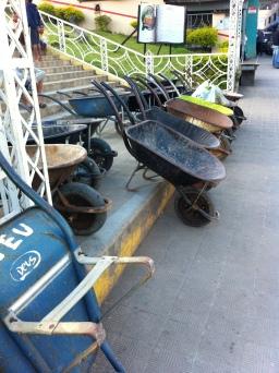 Wheelbarrow Taxi Stand